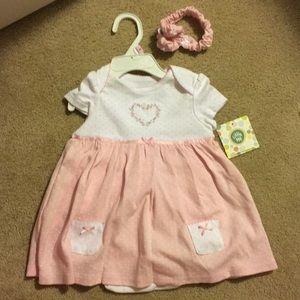 Baby girl dress & matching headband
